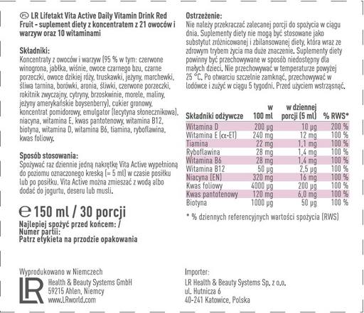 LR LIFETAKT Vita Active Red Fruit