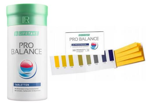 Zestaw odkaszanie organizmu LR Pro Balance tabletki i paski do pomiaru pH
