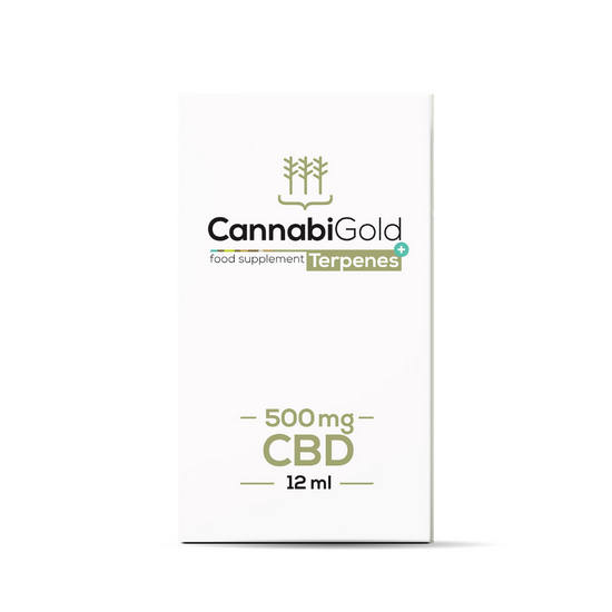 Olejek CBD CannabiGold Terpenes + 500 mg