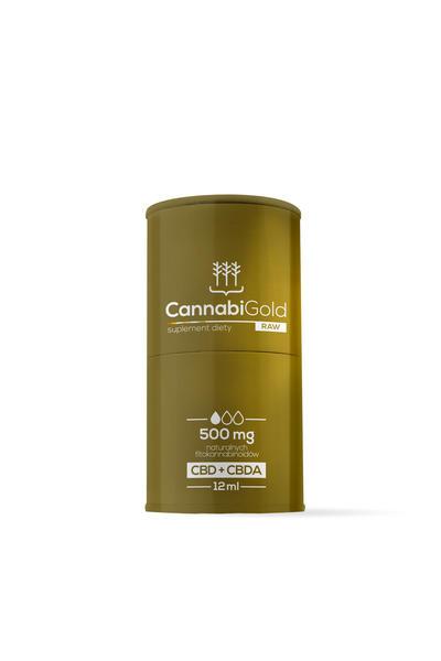Olejek CannabiGoldRAW 500 mg CBD + CBDA