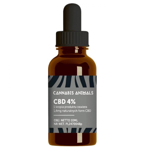 Olejek CBD dla zwierząt Cannabis animals 4%